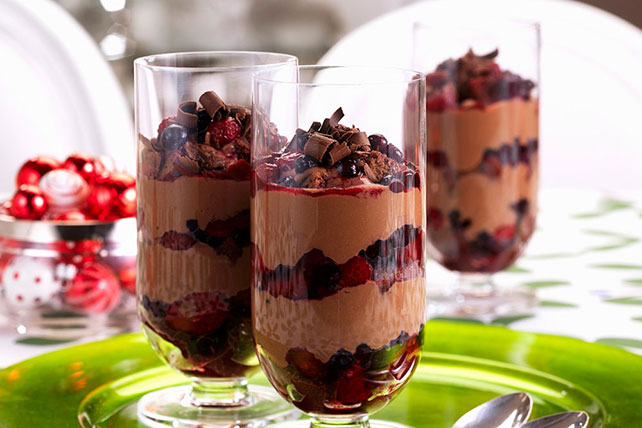 Chocolate and Berry Parfaits Image 1