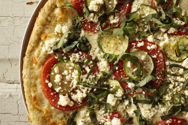 Pizza au féta et aux courgettes Image 1