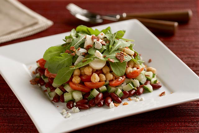 Layered Bean and Vegetable Salad