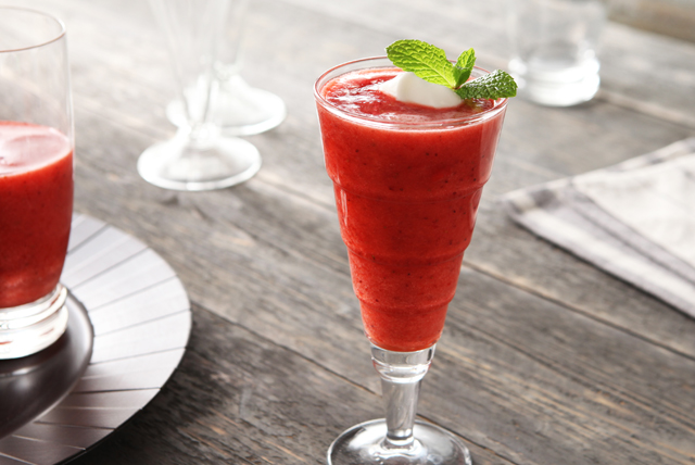 Strawberry-Coconut Water Slush Image 1
