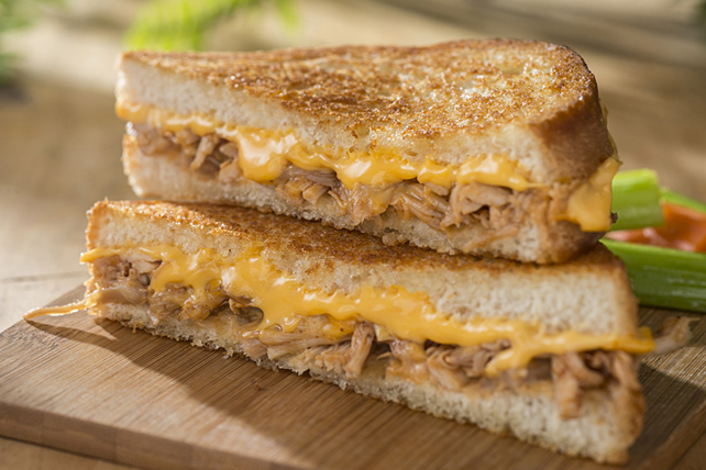 Cheesy BBQ Chicken Grilled Cheese Image 1