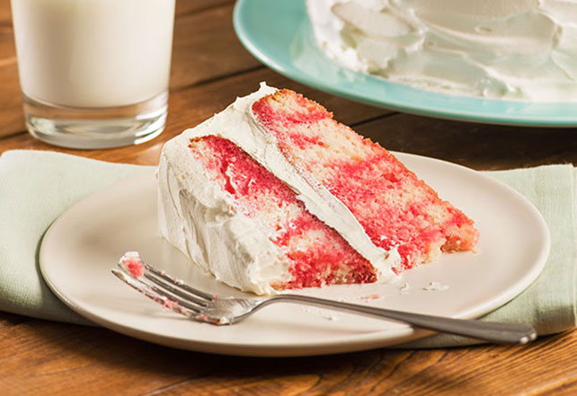 JELL-O® Strawberry Poke Cake Image 1