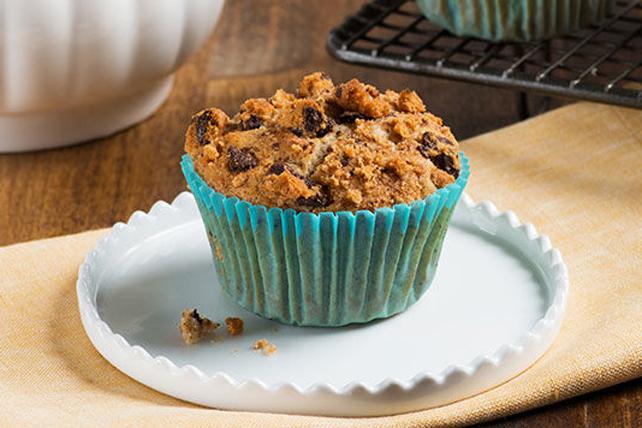 Muffins aux biscuits aux brisures de chocolat et aux bananes Image 1