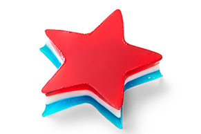 JELL-O Red, White and Blue Stars