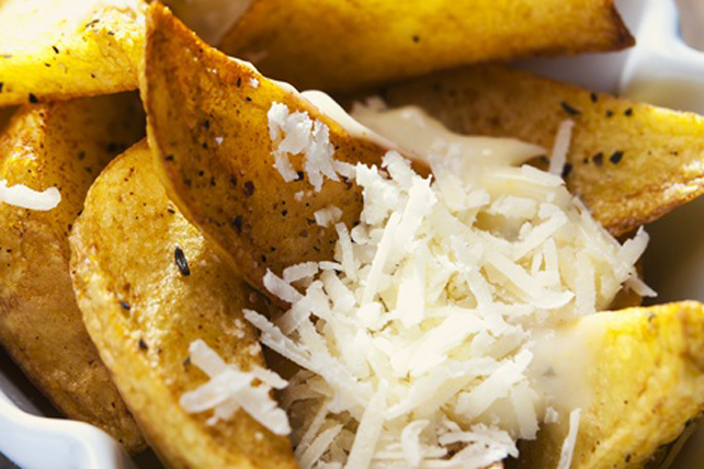 Potato Wedges with Garlic and Parmesan