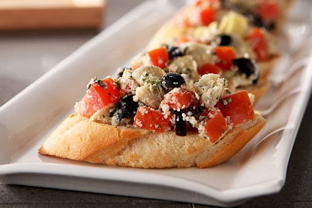 Olive and Tomato Bruschetta