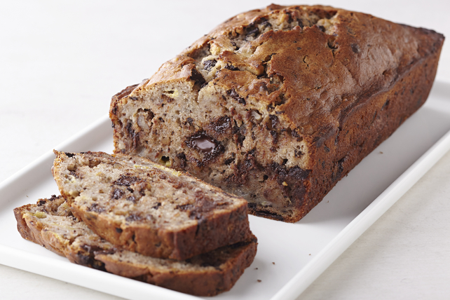 Chocolate Chunk-Walnut Banana Bread Image 1
