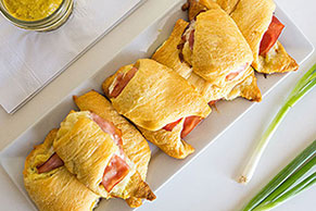 Ham and Pineapple Crescent Rolls