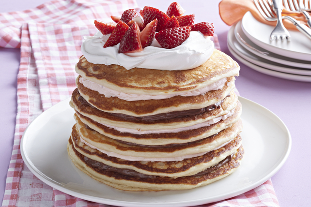 Chocolate-Strawberry Pancake Stack Image 1
