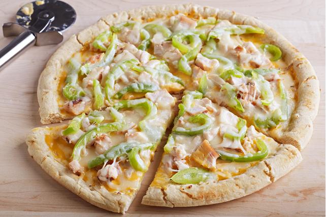 Pizza au poulet et aux deux fromages  Image 1