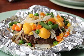 VELVEETA® Burger Foil Packs