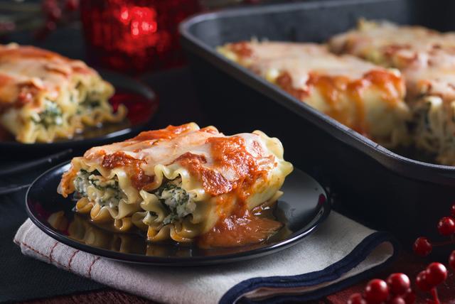 Mini-rouleaux de lasagne aux épinards Image 1