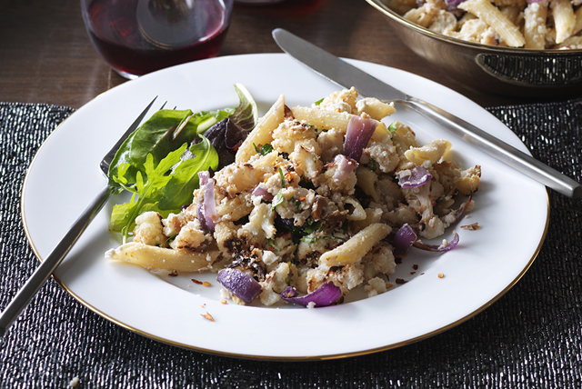 Penne with Roasted Cauliflower, Ricotta and Parmesan Image 1