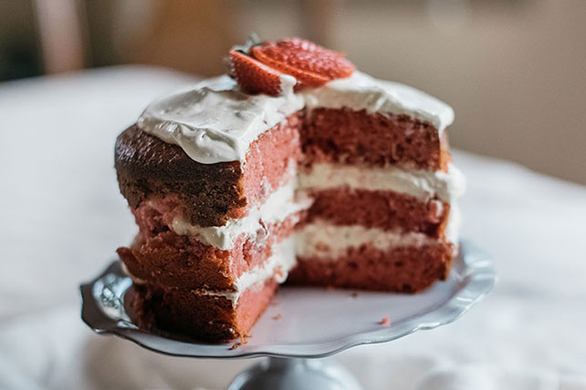 Strawberry-Orange Layer Cake Image 1