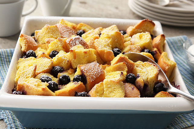 Lemon-Blueberry Bread Pudding Image 1