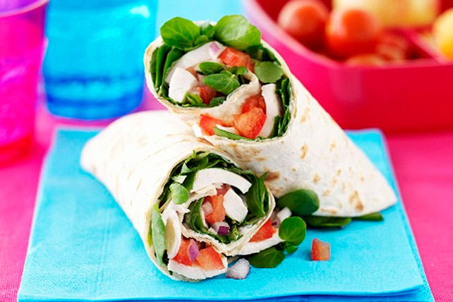 Chicken and Watercress Wraps Image 1