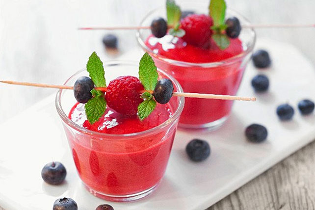Raspberry and Blueberry Smoothies Image 1