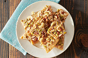 Salted Caramel Nut Brittle