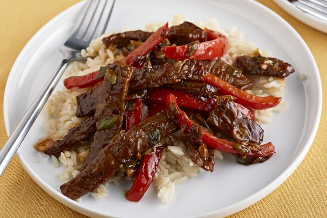 Bifteck barbecue avec riz Image 1