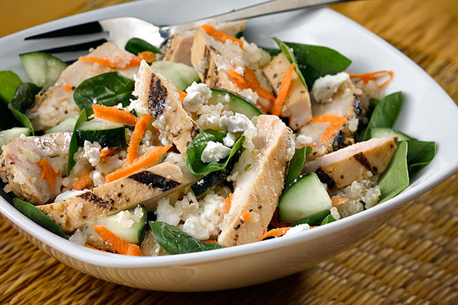 Chicken, Feta and Quinoa Bowl