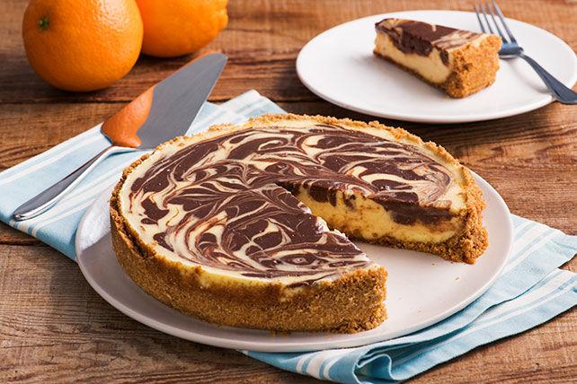 Gâteau marbré au fromage, au chocolat et à l'orange Image 1