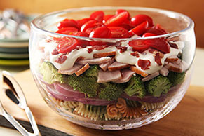 Creamy Turkey Club Pasta Salad