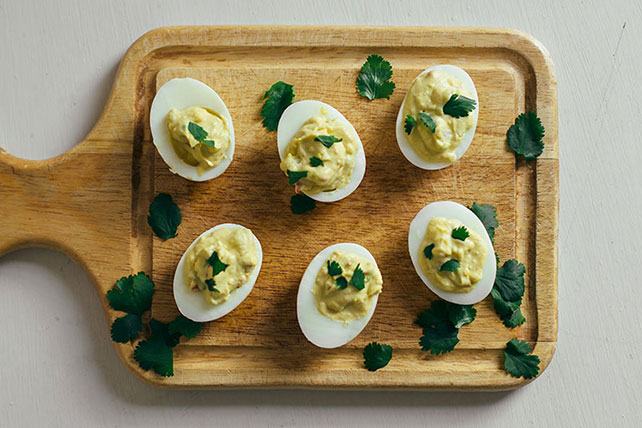 Guacamole-Stuffed Deviled Eggs