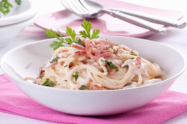 Creamy Classic Pasta Carbonara Image 1