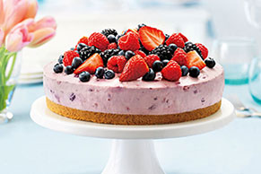 Berry Bliss No-Bake Cheesecake