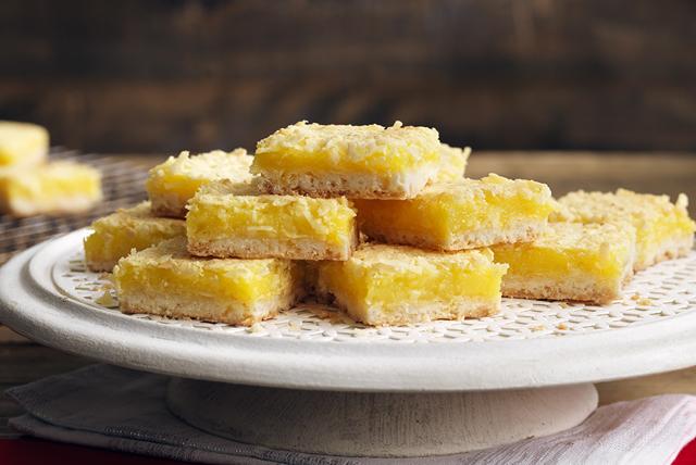 Barres au citron et à la noix de coco Image 1