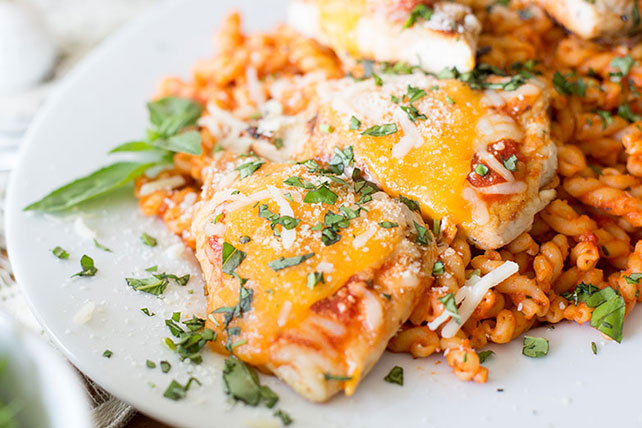 Easy Grilled Chicken & Pasta Parmesan Dinner Image 1