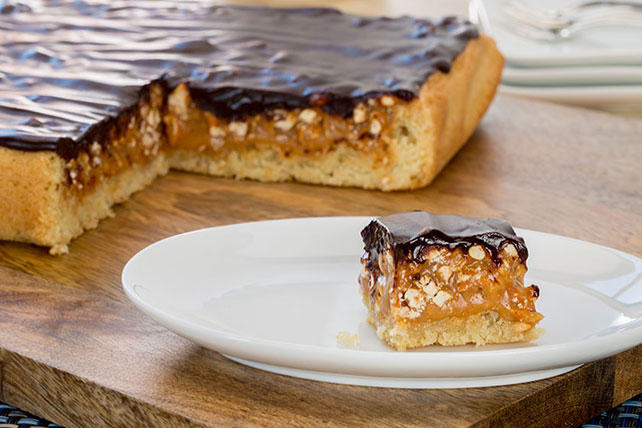 Salted Chocolate-Caramel Pretzel Bars Image 1