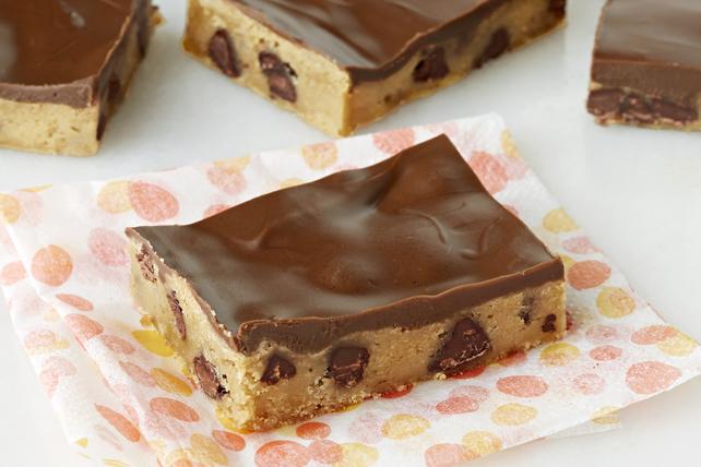 Barres-biscuits aux brisures de chocolat et au beurre d'arachide Image 1