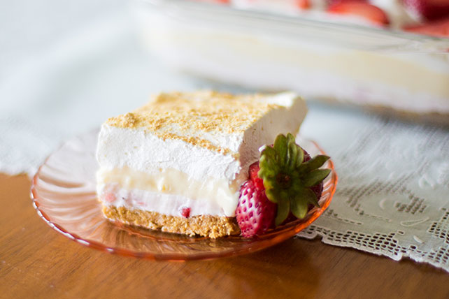 Strawberry COOL WHIP Cheesecake Dessert Image 1