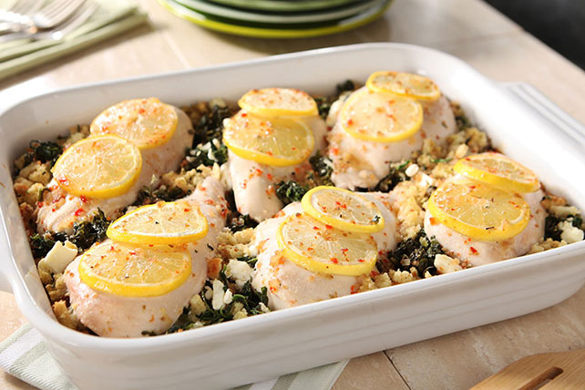 Spinach and Feta Chicken Bake - Kraft Recipes