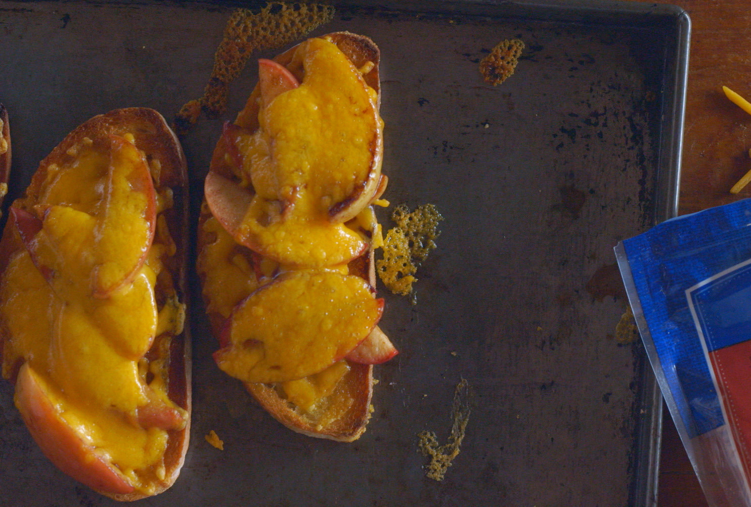 Cheddar and Apple Toast Image 1