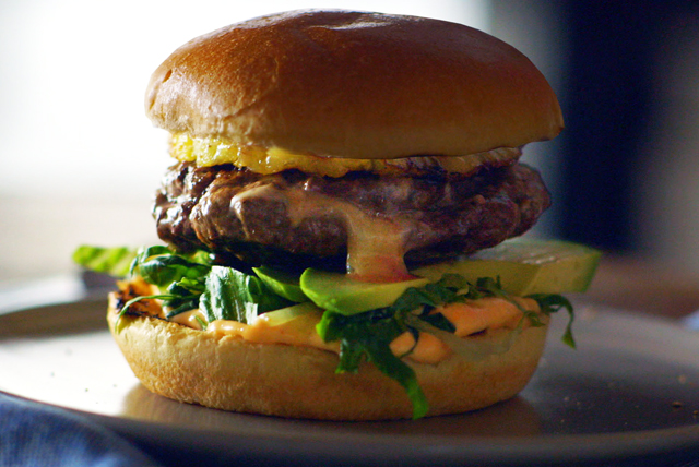 Spicy Habanero Cheese Stuffed Burger Image 1