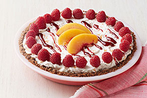 No-Bake Peach Melba Pie
