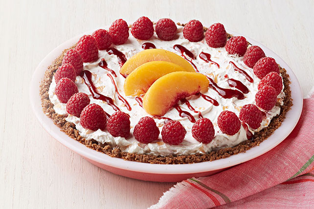 No-Bake Peach Melba Pie Image 1