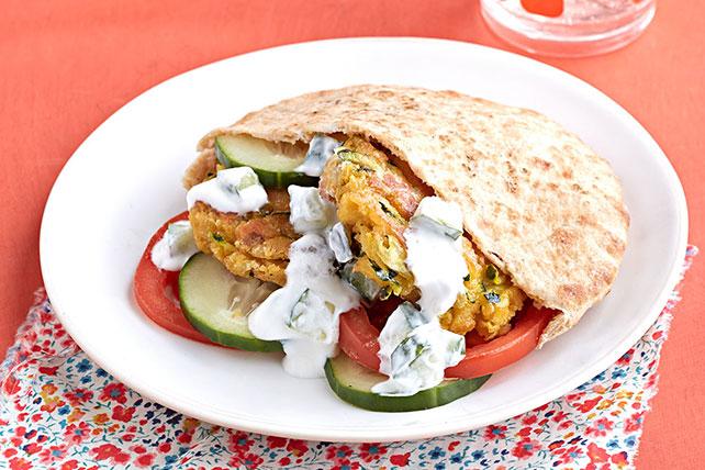 Zucchini-Falafel Pitas Image 1