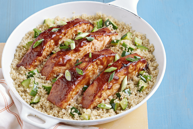 Barbecue Salmon with Zucchini and Quinoa Image 1