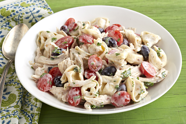 Greek Chicken Tortellini Salad