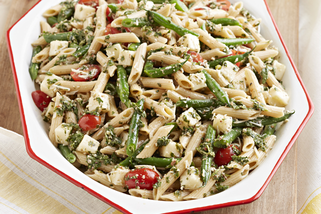 Pesto-Pasta with Green Beans