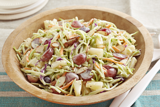 Broccoli Slaw with Fruit & Dressing