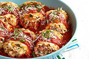 Skillet Chicken Lasagna Roll-Ups