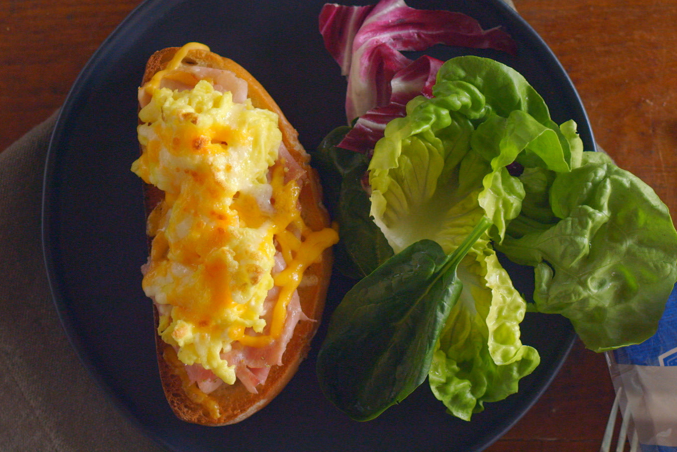 Ham, Egg, and Cheddar Toast Image 1