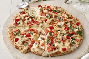 Pizza blanche au poulet grillé