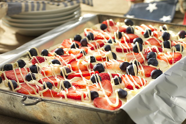 Red, White and Blue Icebox Cake