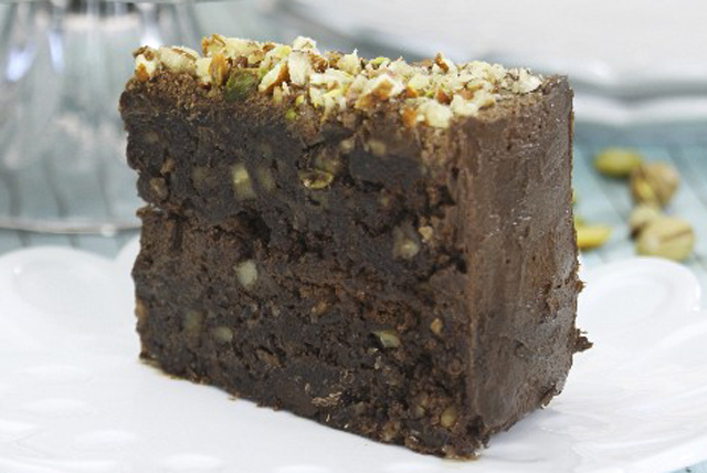 Chocolate Fudge and Nut Cake Image 1