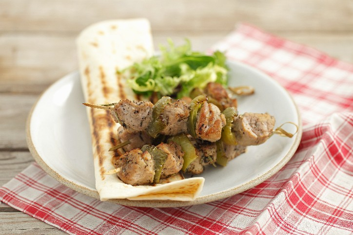 Grilled Pork & Pepper Kabobs Image 1